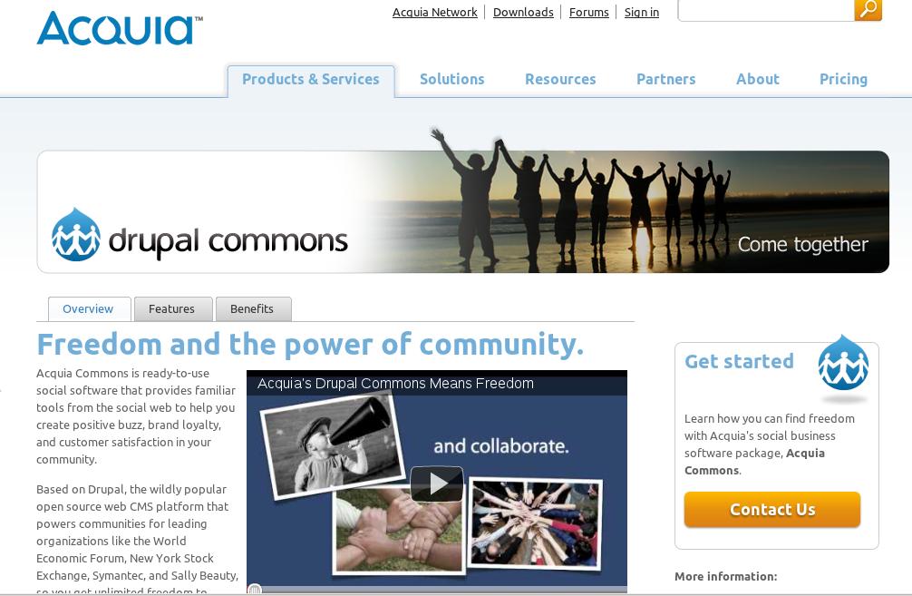 Plataformas Open Source, Commons