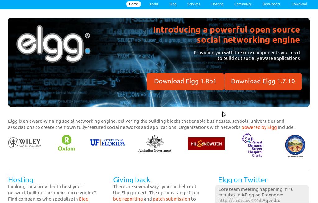 Plataforma Open Source Elgg