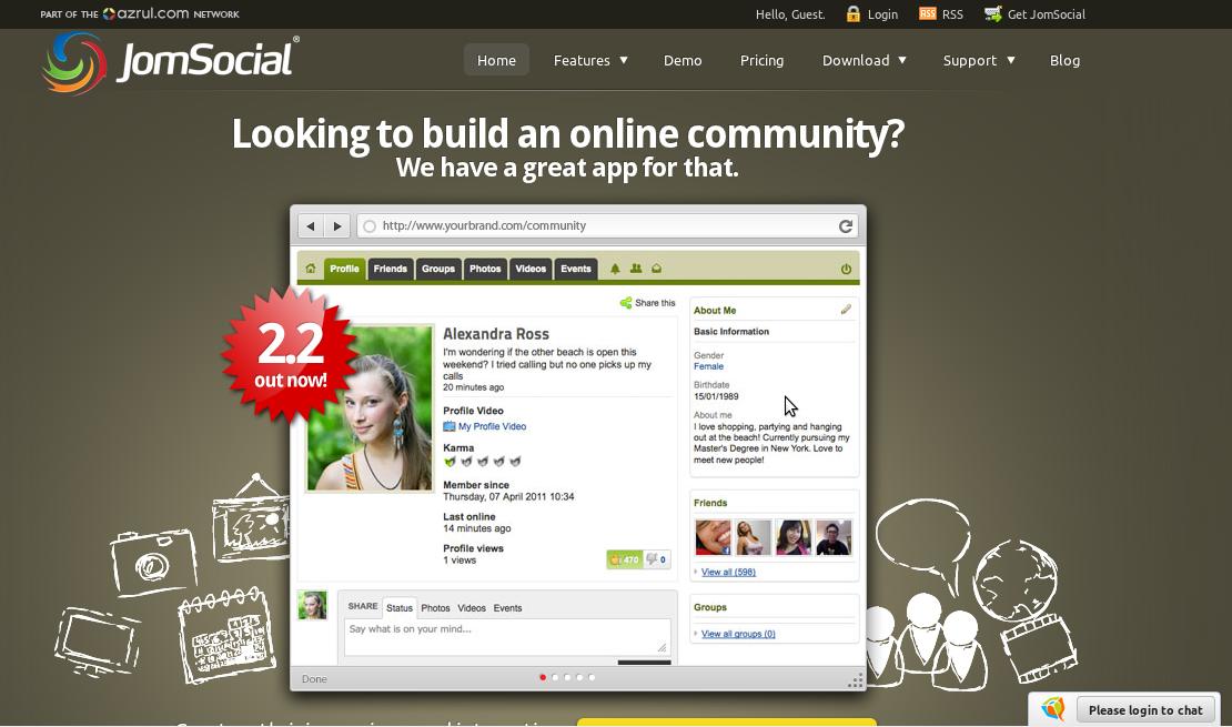 Plataforma Open Source, JomSocial