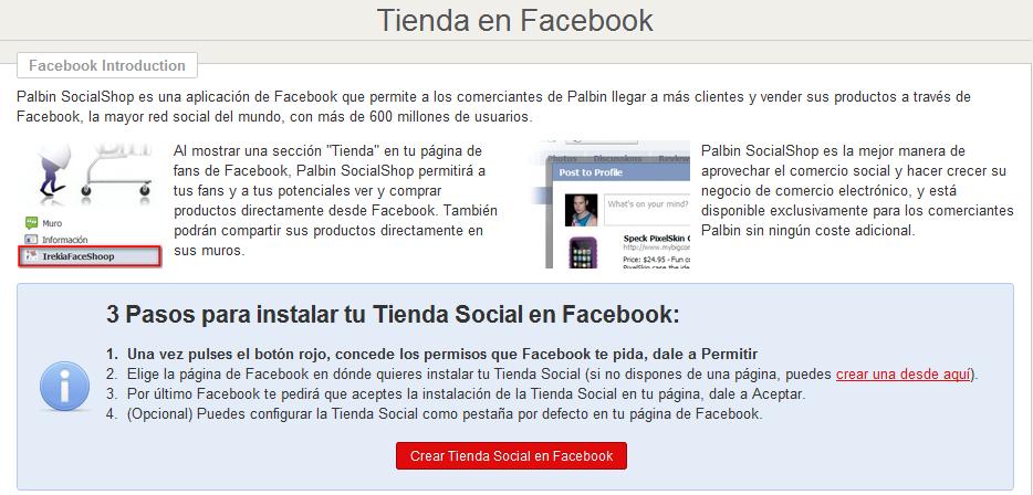 Paso 1 crear tienda social en Facebook