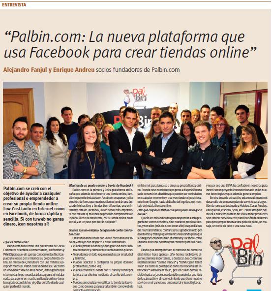 """Palbin.com aparece hoy en """"Soy online"""" de la Razón. - 1"""