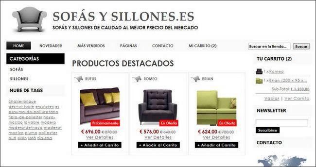 Sofas y Sillones, una tienda hecha en palbin.com